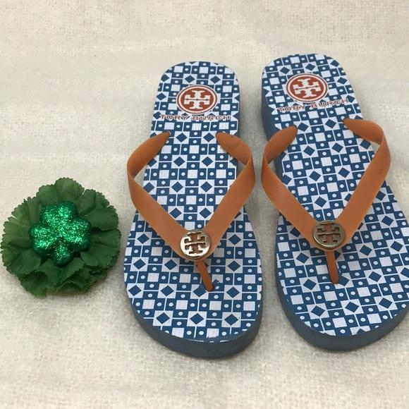 133c9499a051d TORY BURCH Wedge Flip Flop Thong Sandals Rubber 8